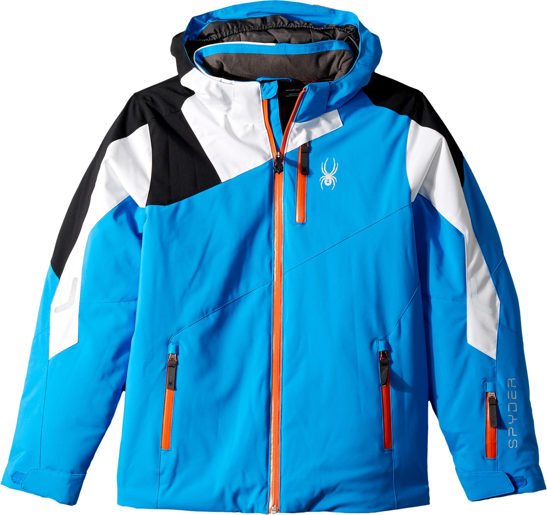 Spyder Kids Boy's Avenger Jacket (Big Kids) Fresh Blue/White/Black 12