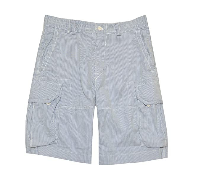 Polo Ralph Lauren Men\u0027s Striped Cargo Shorts (29, Blue/White)