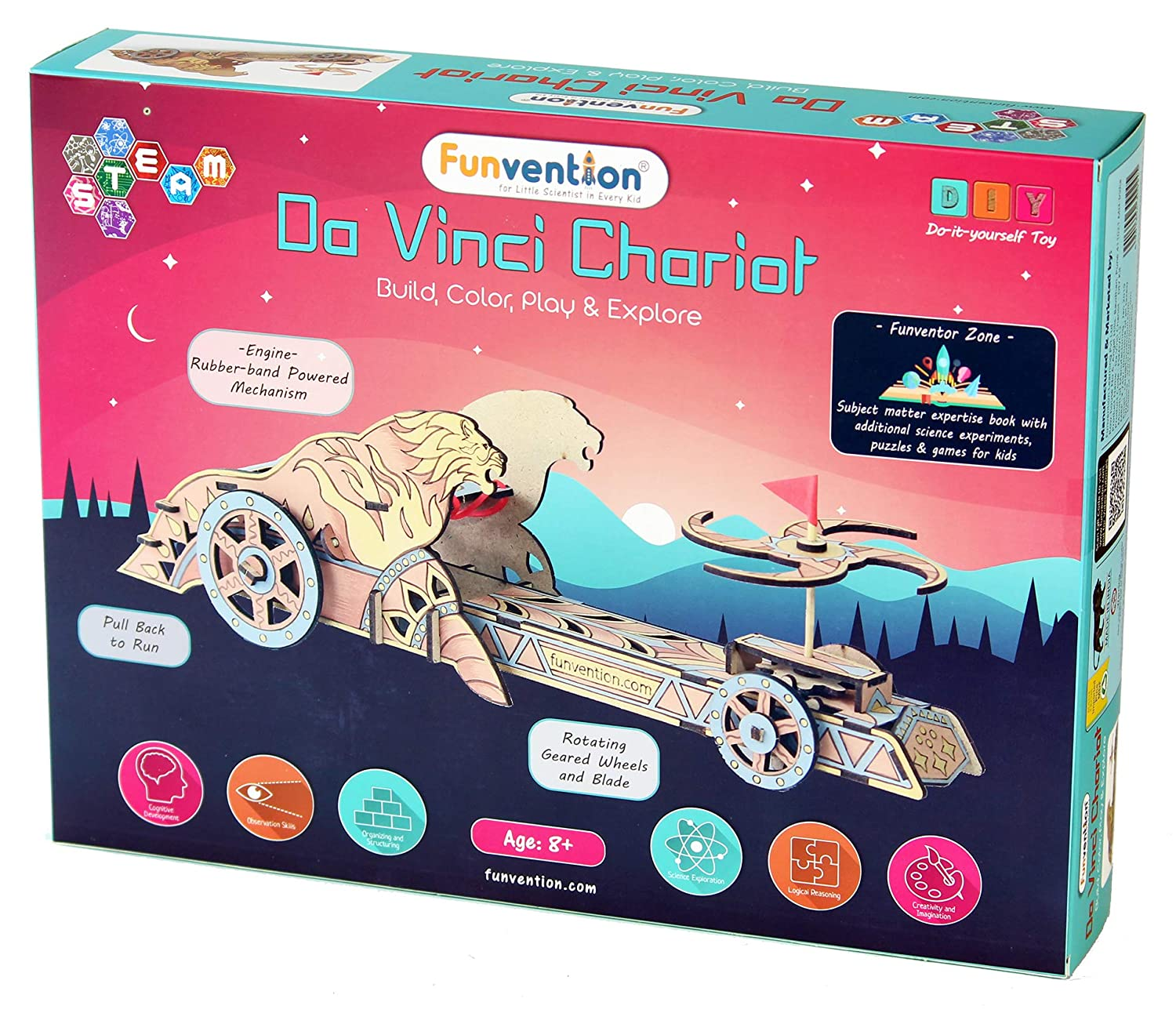 1986646f Buy Funvention- for Little Scientist in Every Kid DIY Mechanical Model -  Science Educational Wooden Toy for Bahubali Fans Online at Low Prices in  India ...