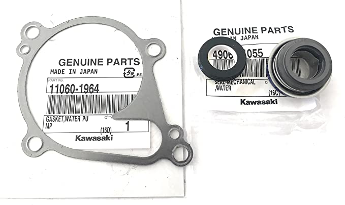 Enrilior Water Pump Mechanical Seal Cover Fit Compatible with Kawasaki ATV KVF750A Brute Force 750 4X4I 05-07