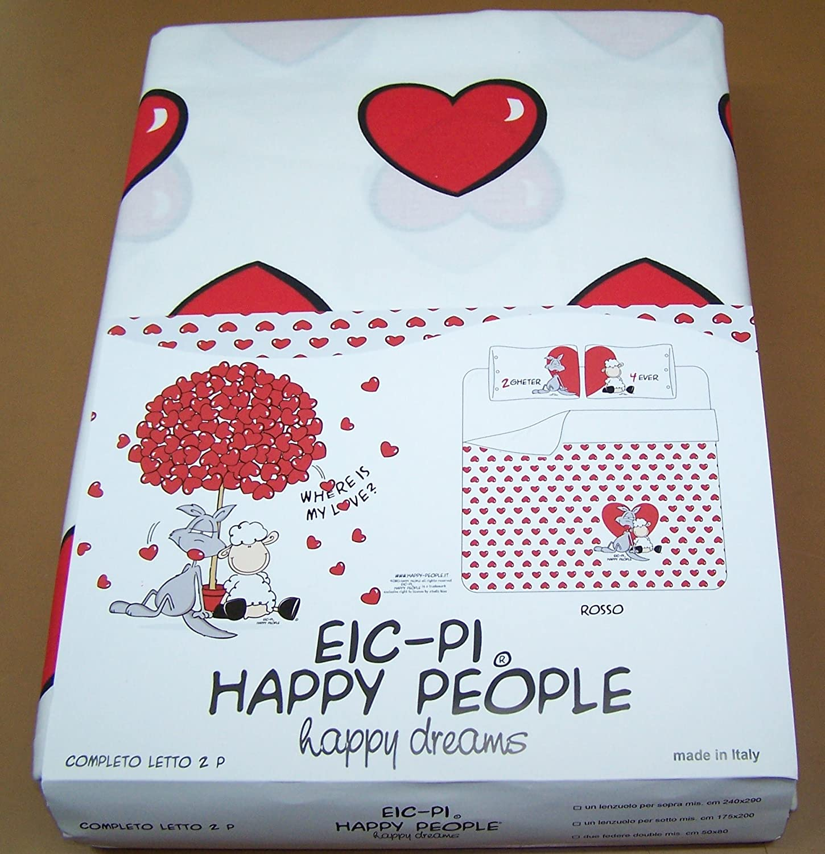 pleto lenzuola Happy People matrimoniale Amazon Casa e cucina image source