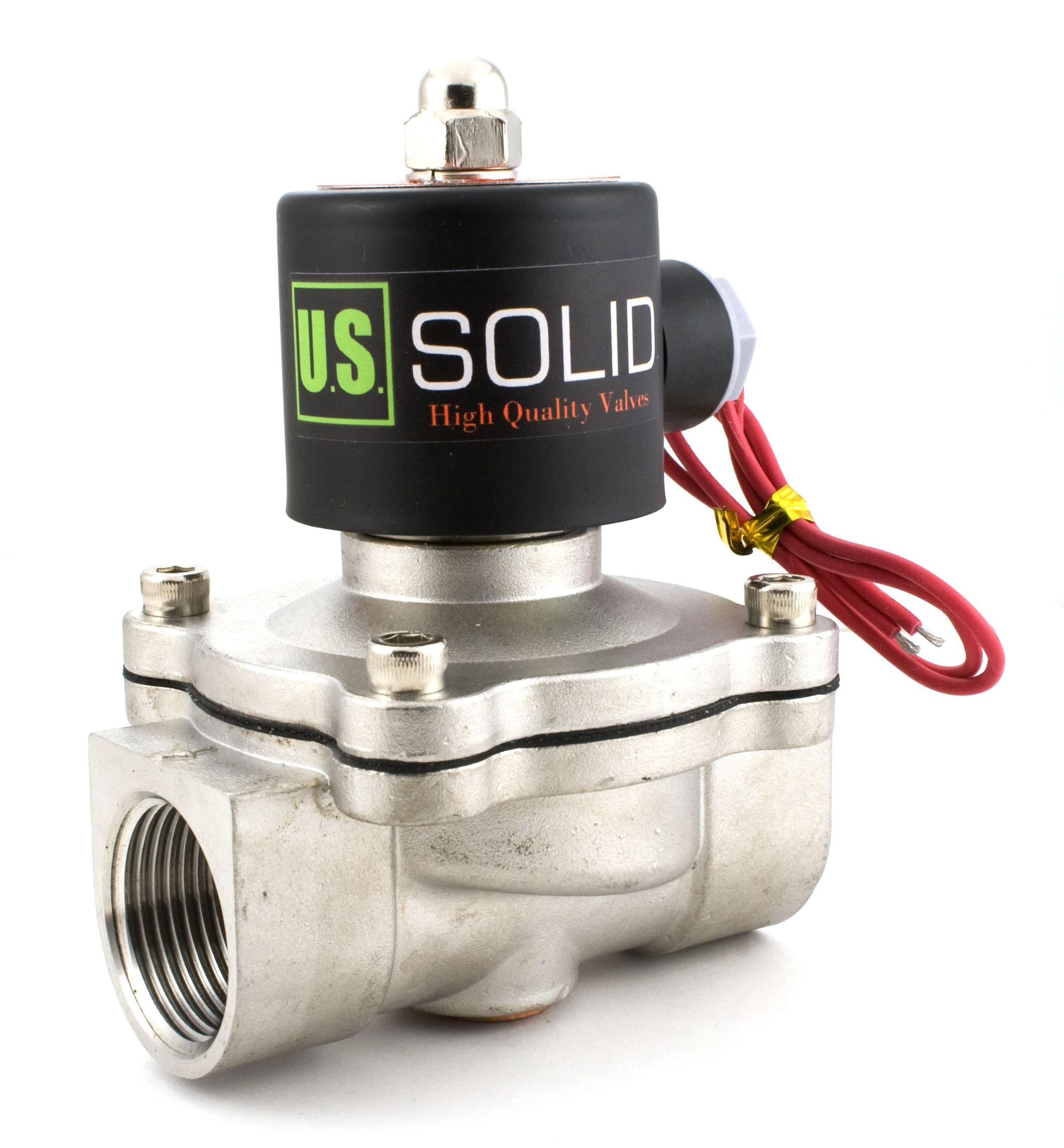 1'' Stainless Steel Electric Solenoid Valve 110VAC Normally Closed Air Water by U.S. Solid