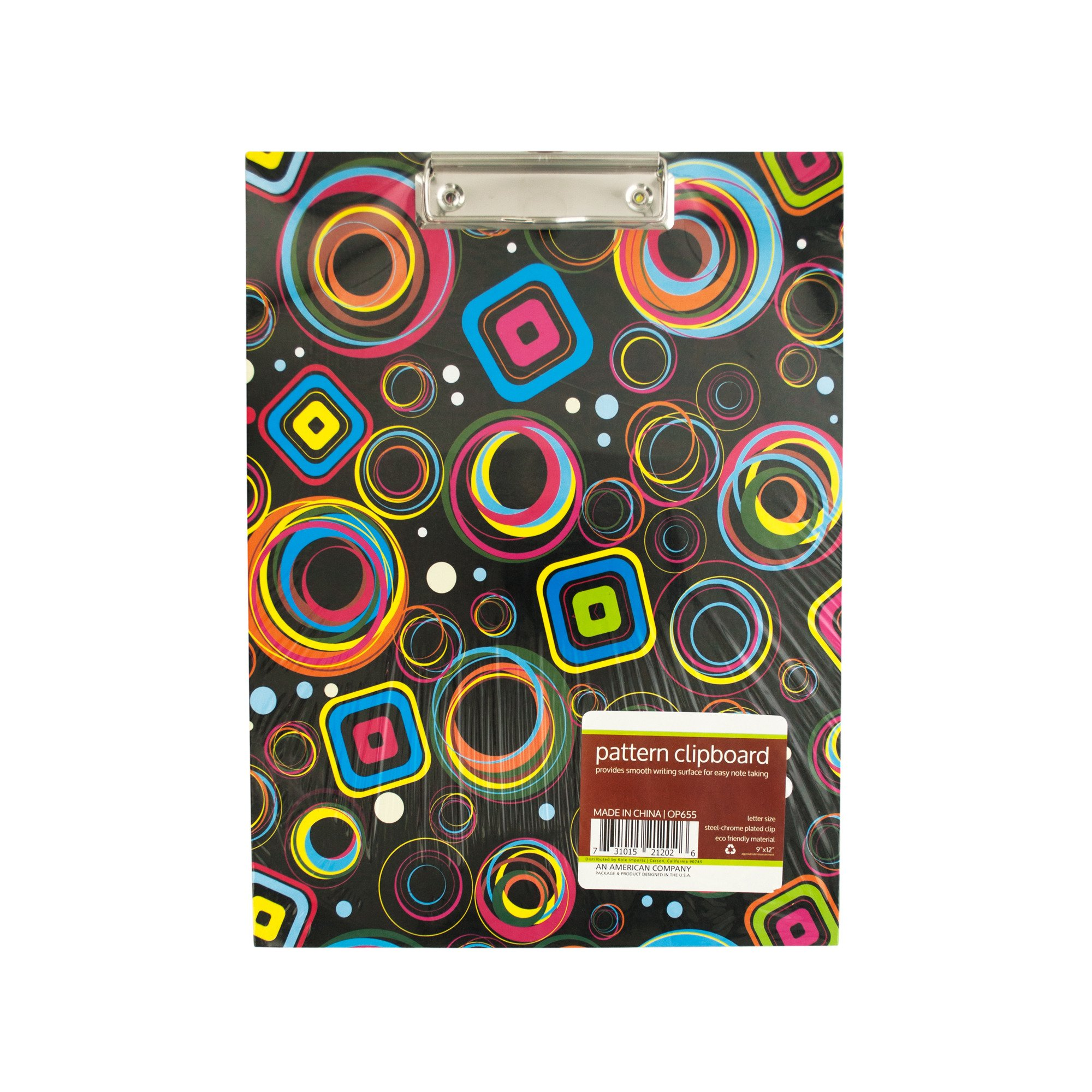 123-Wholesale - Set of 30 Pattern Clipboard with Steel-Chrome Plated Clip - School & Office Supplies Clipboards