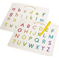Hautton Magnetic Letters Board, 2 in 1 Alphabet Letter Tracing Board Educational Toy A to Z and a to z Read Learn…