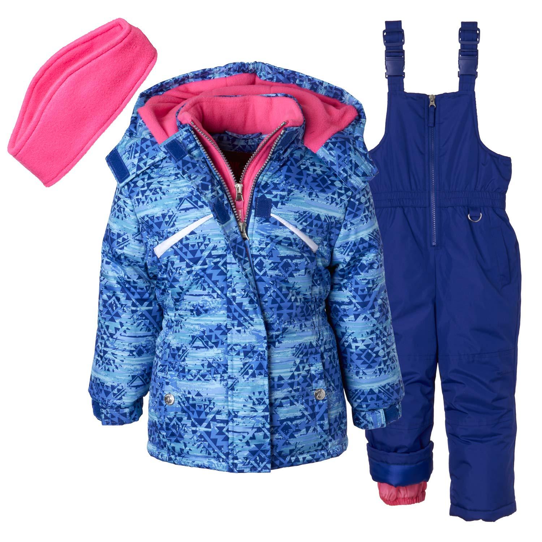 Pink Platinum Girls' Toddler Printed Heavy Snowsuit, Blue, 3T by Pink Platinum
