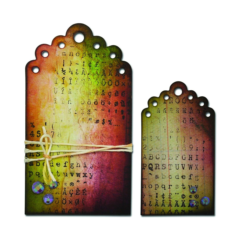 Multicolore Sizzix Matrices de d/écoupe Etiquettes/Essentielles Taille Unique