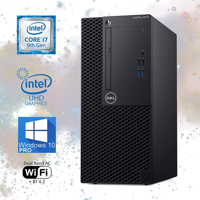 Dell Optiplex 3070 Mini-Tower Computer, Intel Core i7-9700T Upto 4.30GHz, 16GB RAM, 2TB M.2 NVMe SSD, Wi-Fi, Bluetooth, DisplayPort, HDMI, DVD-RW - Windows 10 Pro