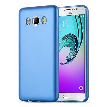 Funda Galaxy J7 (2016) Case, JAMMYLIZARD Carcasa TPU Fina Goma De Silicona [Metallic Jelly ] Efecto Metálico Mate Back Cover Para Samsung Galaxy J7 ...