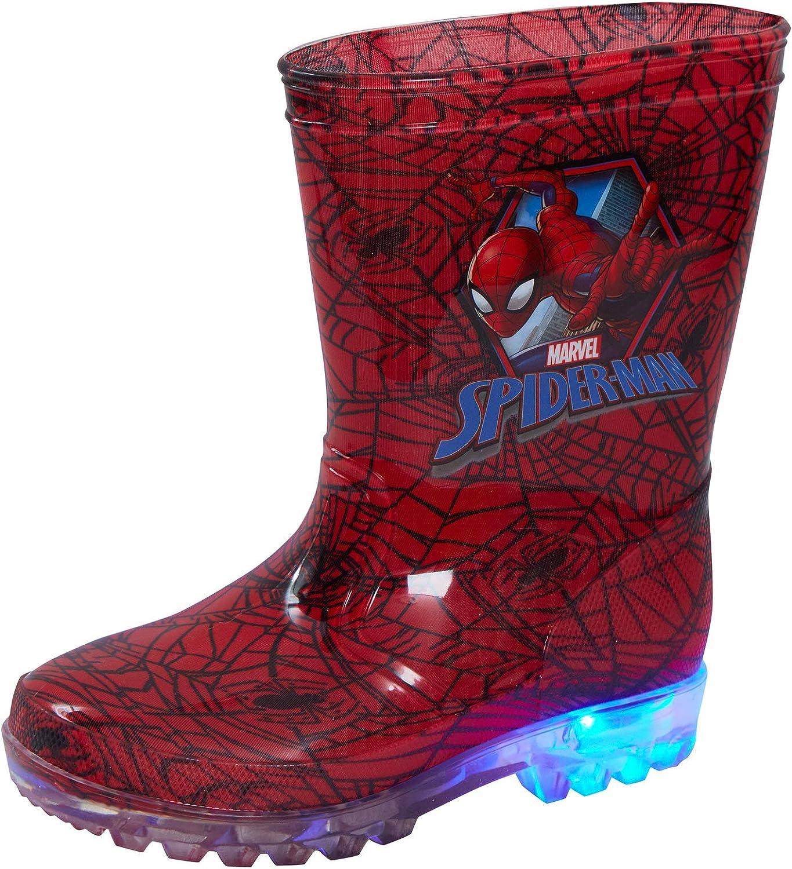 Marvel Spiderman Bottes en caoutchouc lumineuses pour enfant pour la neige ou la pluie