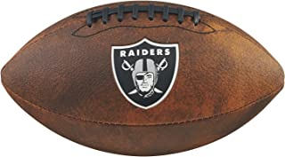 Game Master NFL Oakland Raiders Junior Wilson Throwback Football, 11-Inch, Brown