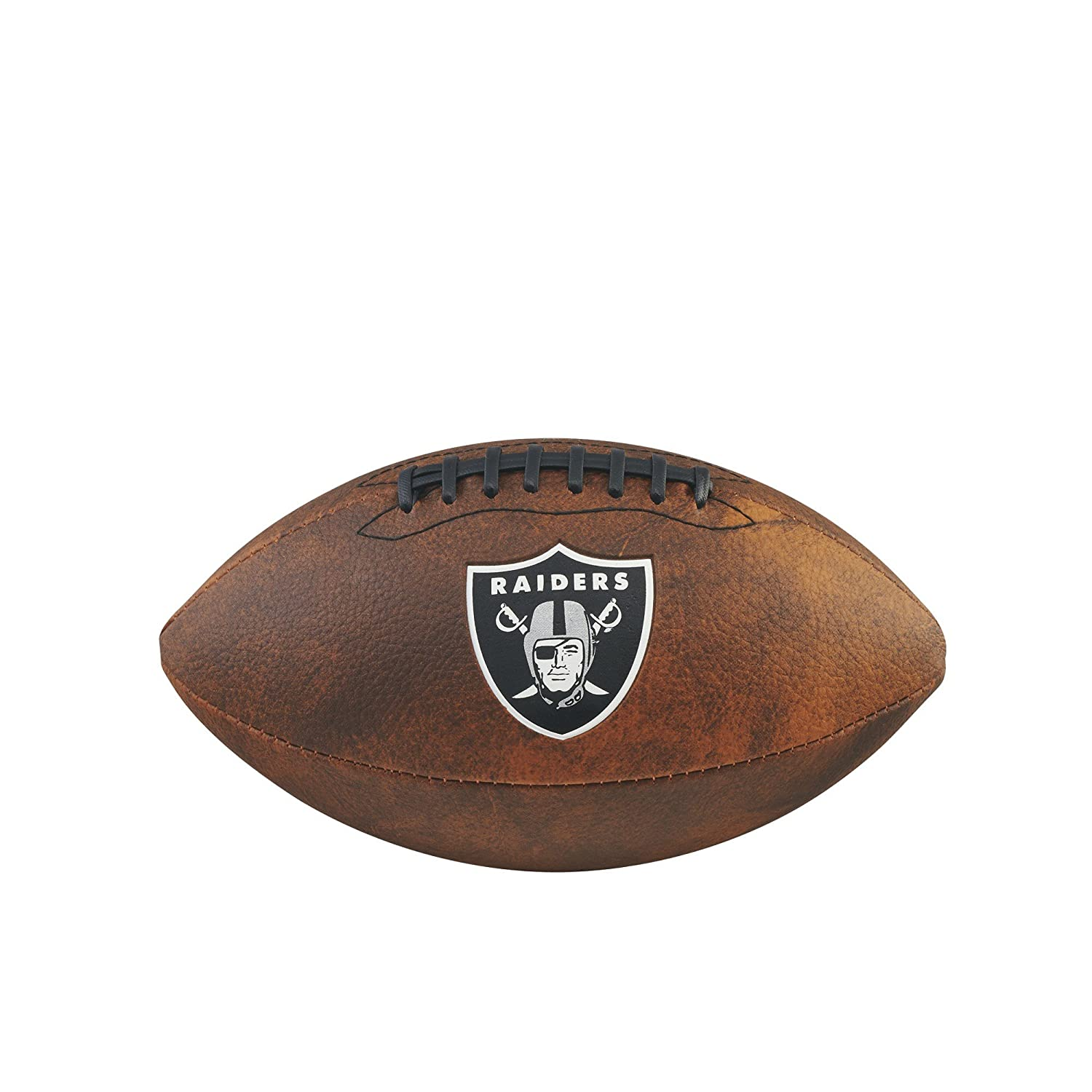Game Master NFL Oakland Raiders Junior Wilson Throwback Football, 11-Inch, Brown Gulf Coast Sales WTF1539XBOA