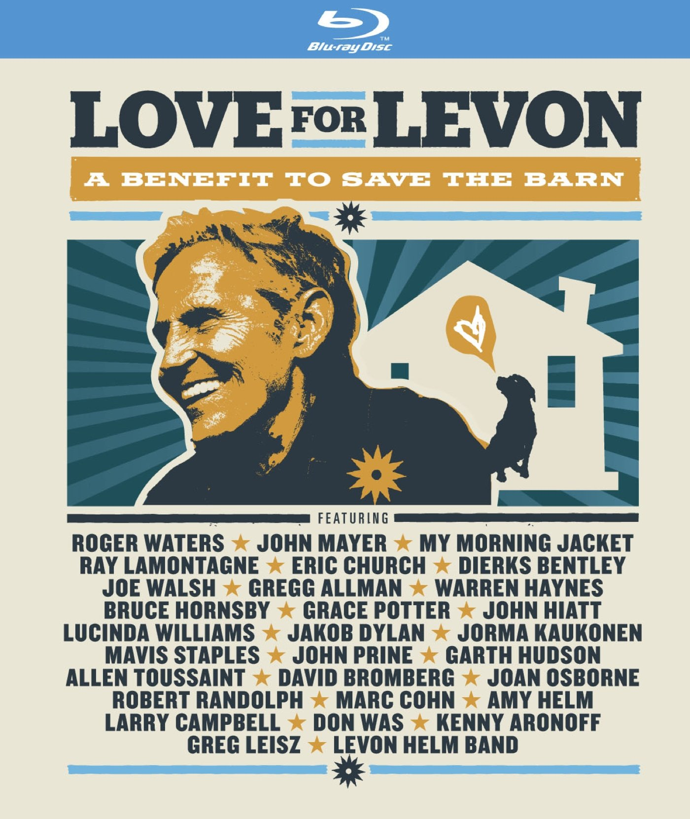 Blu-ray : Love for Levon - Love for Levon: A Benefit to Save the Barn (With CD, Digipack Packaging, 4 Disc)