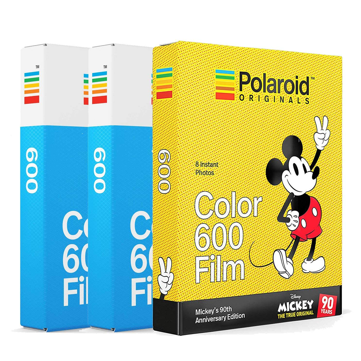 Mickey Mouses 90th Anniversary Special Edition Color Film 3-Pack Bundle for 600 Series Cameras Polaroid Originals Gift Set