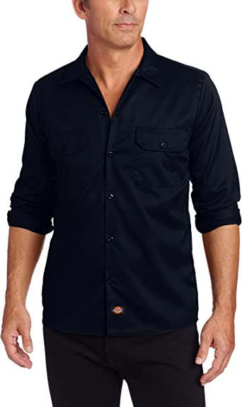 Dickies Long Sleeve Slim Work Shirt Camisa para Hombre: Amazon.es: Ropa y accesorios