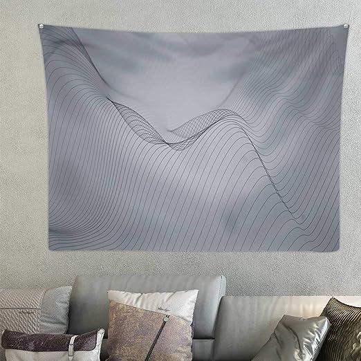 Amazon Com Hitecera Abstract Wavy Lines No 462 Tapestry Room Decor 59 1x51 1 Home Kitchen