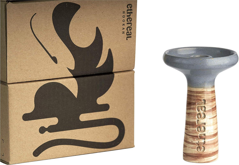 Cazoleta Ethereal Hookah - Cerámica Premium para Shisha - Rendimiento excelente - Compatible con cualquier Cachimba - Apta para usar gestor de calor - Fabricada en España - Única (Neptune)