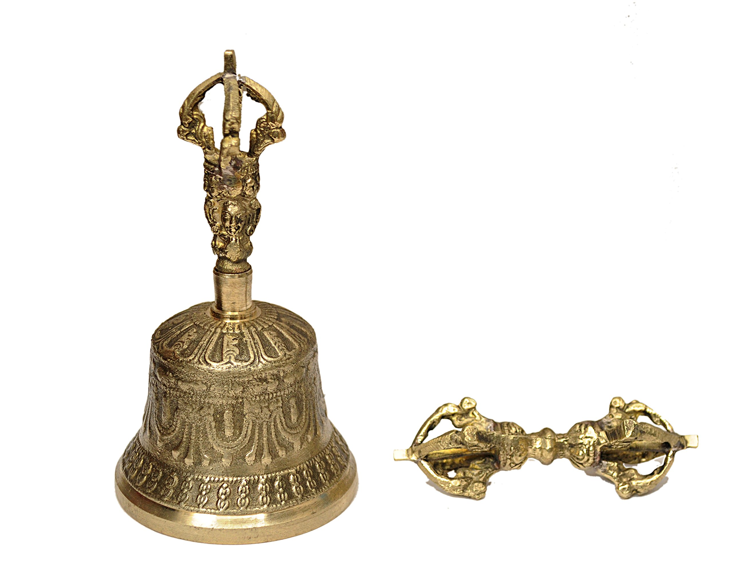 Dharma Store - Tibetan Buddhist Meditation Bell and Dorje Set by Dharma Store