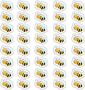 Edward & Co Set of 40 Sticker Bumblebee Bee Decal Small Phone Mini Logo Birthday Parties Envelopes Labels Seals Shower Favor 1.2 inches Each