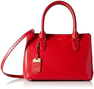 c91b4a667b24 Lauren Ralph Lauren Newbury Double Zip Shopper (Red)  Amazon.co.uk ...