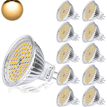 GU5.3 MR16 Bombilla LED 12V 5W Blanco Calido Equivalente a Halogeno 35W Spot Luz