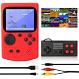 KIDWILL Handheld Game Console, 800mAh Battery Powered Portable Mini Game Player with 500 Retro FC Games, 3.0 Inch Color…