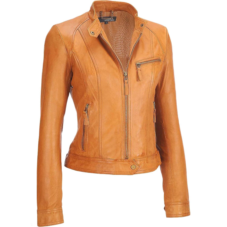 Women Leather Jacket Coat Genuine Lambskin Pure Leather Bomber Biker Jacket LTN474