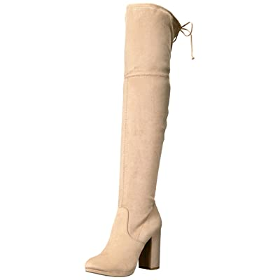 ZIGI SOHO Women's MAJORI Knee High Boot, Beige, 10 Medium US | Knee-High