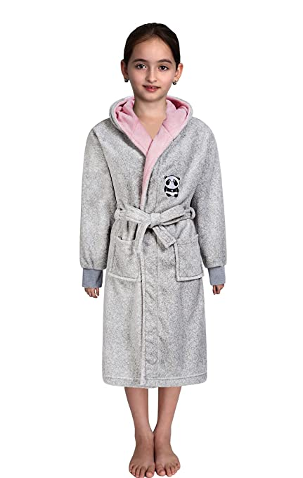 067a995ba7 Image Unavailable. Image not available for. Color  Plush Coral Fleece Shawl  Collar Kimono Bath Spa Robe ...