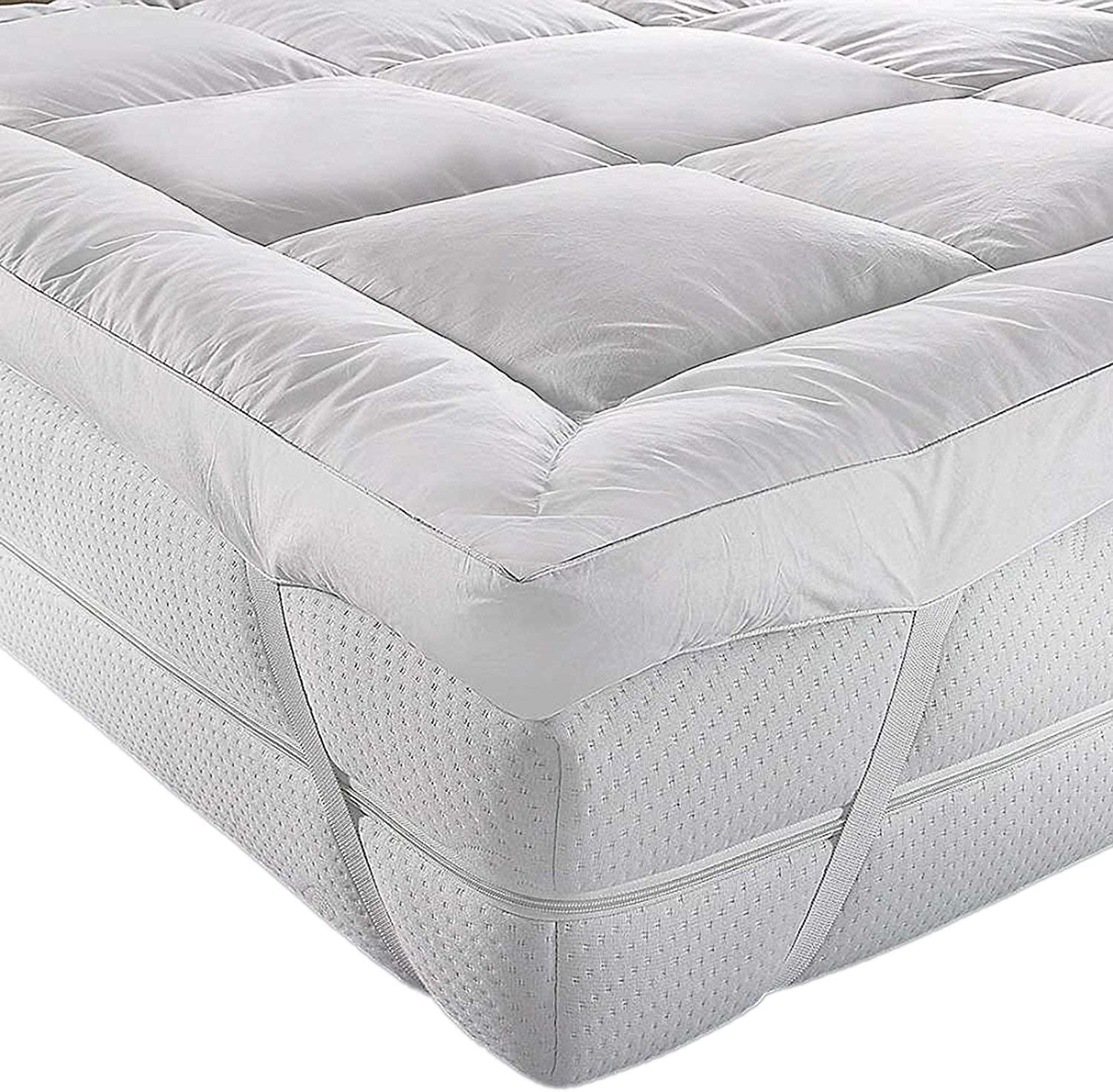 2 X HOTEL QUALITY QUILTED ANTI ALLERGENIC 4 FOOT MATTRESS PROTECTOR 122x190CM