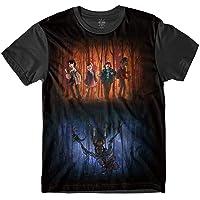 Camiseta Insane 10 Stranger Things Mundos Sublimada Marrom