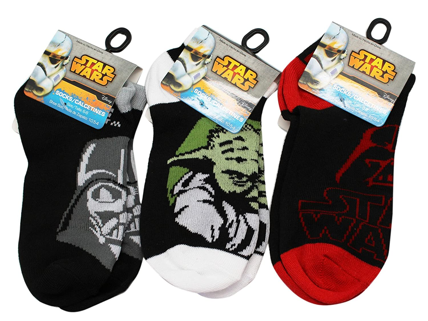 Amazon.com: Star Wars Assorted Color Size 6-8 Kids Sock Set (3 Pairs Chosen at Random): Clothing