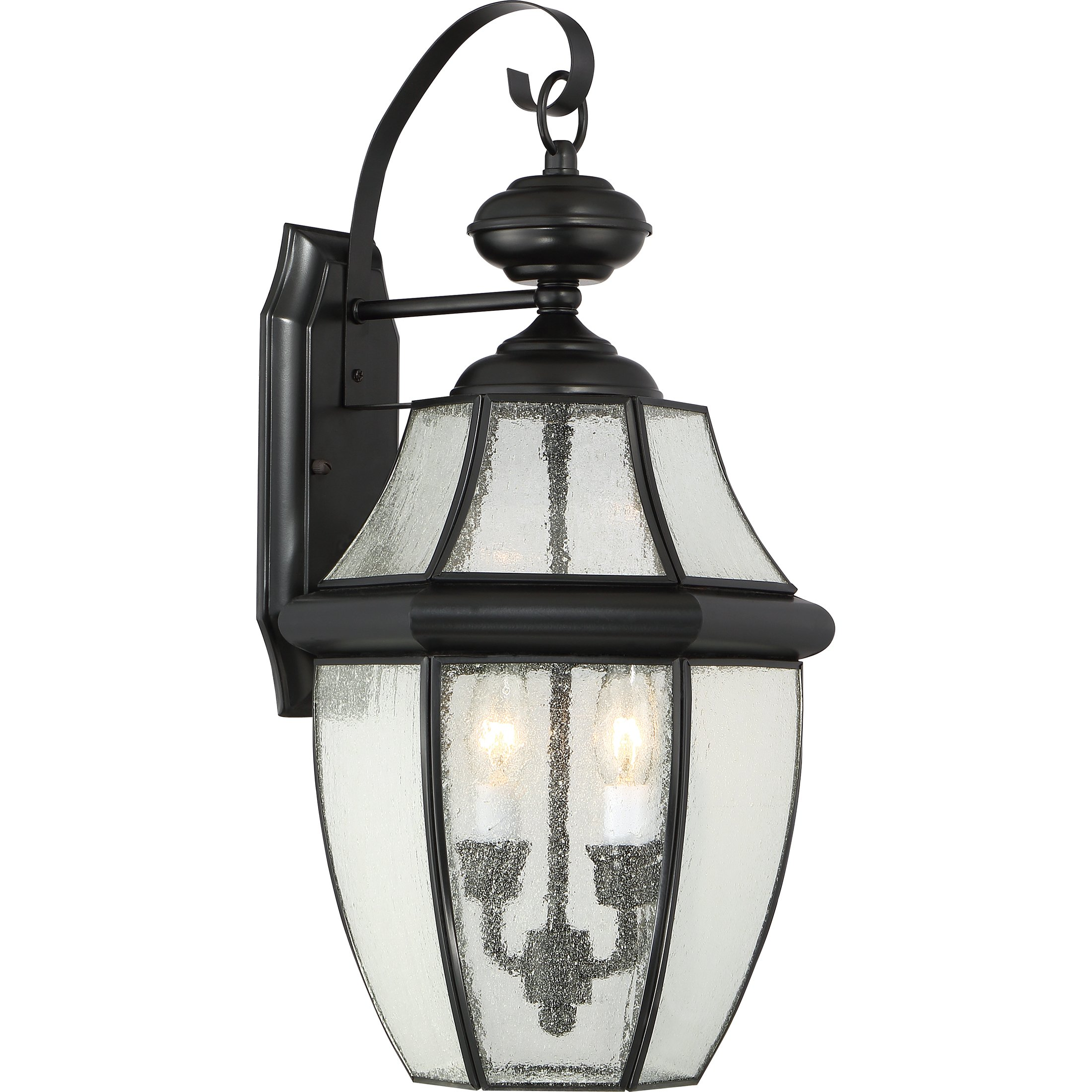 Quoizel NY8411K Newbury 2-Light Outdoor Lantern, Mystic Black by Quoizel