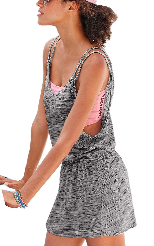 ECOWISH Sommer Sleeveless reizvolle tiefe V-Ausschnitt Beach Women Casual Boho Minikleid