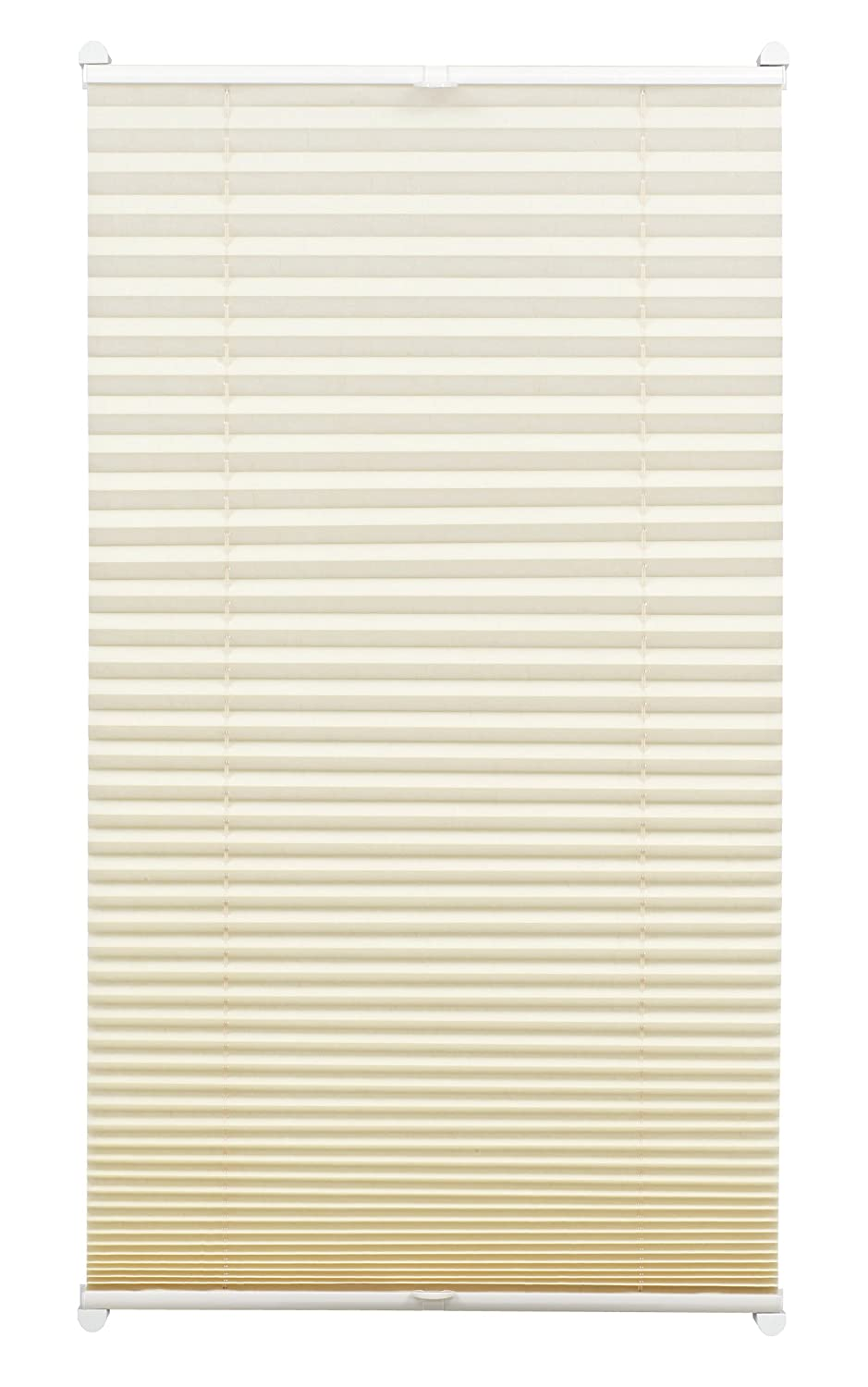 Gardinia Pleated Blind for Clamping, Opaque Folding Blind, Mounting Kit Included, EASYFIX Pleated Blind with Two Operating Rails, Ivory, 40 x 130 cm (WxH) 33401