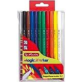 Herlitz Magic Colours 8651408 - Rotuladores mágicos con doble punta (10 unidades)