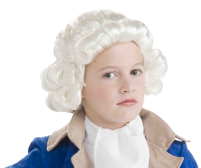 Amazon.com: Forum Novelties Colonial Boy Child Wig, White: Toys & Games