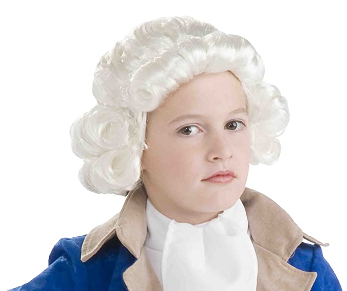 Amazon.com: Forum Novelties Colonial Boy Child Wig, White: Toys ...