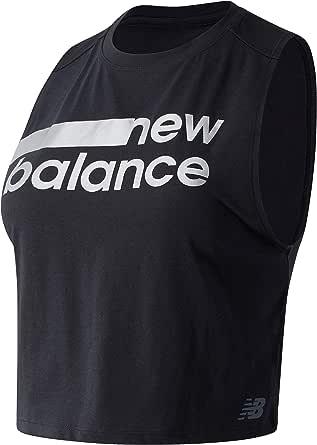 New Balance Women's Relentless Crop Novelty Tank Top Performance
