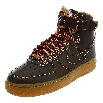 | Nike Kid's Air Force1 High GS, Brooklyn Brown