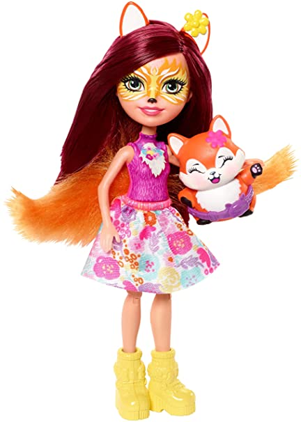 Amazon.es: Enchantimals Felicity Fox con mascota Flix en jardín divertido, muñeca con mascota y accesorios (Mattel FRH45): Juguetes y juegos