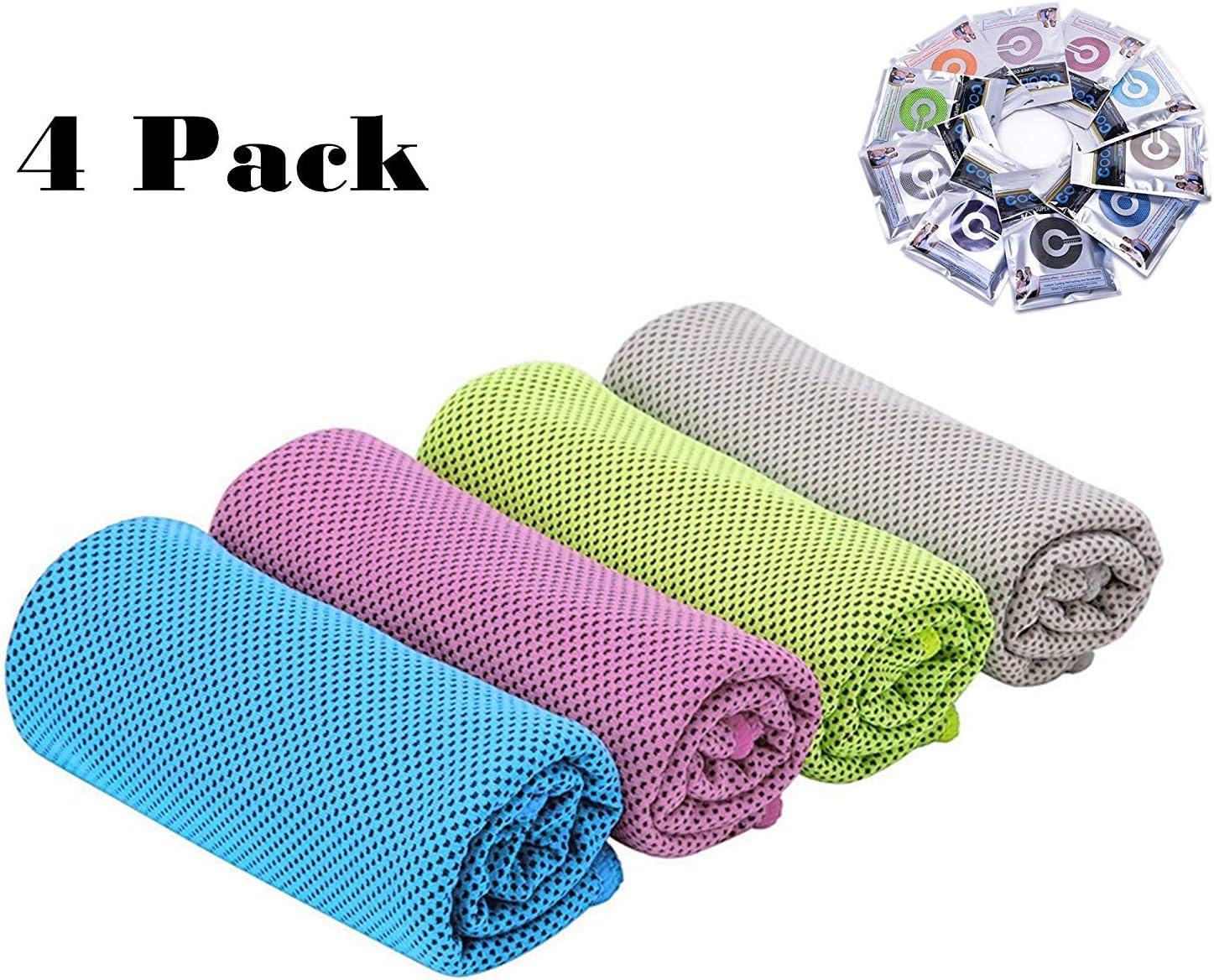 Yoga Senderismo Camping Pilates Correr Gimnasio Viajes Fitness CC CAIHONG Toallas de refrigeraci/ón de Microfibra Multiusos de Secado r/ápido para Cuello Toallas de Hielo para Entrenamiento