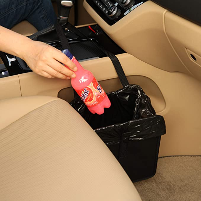 Amazon.com: KMMOTORS Jopps Foldable Car Garbage Can Patented Car Wastebasket Comfortable Multifuntional Artificial Leather and Oxford Clothes Car Organizer Enough Storage for Garbage: Industrial & Scientific