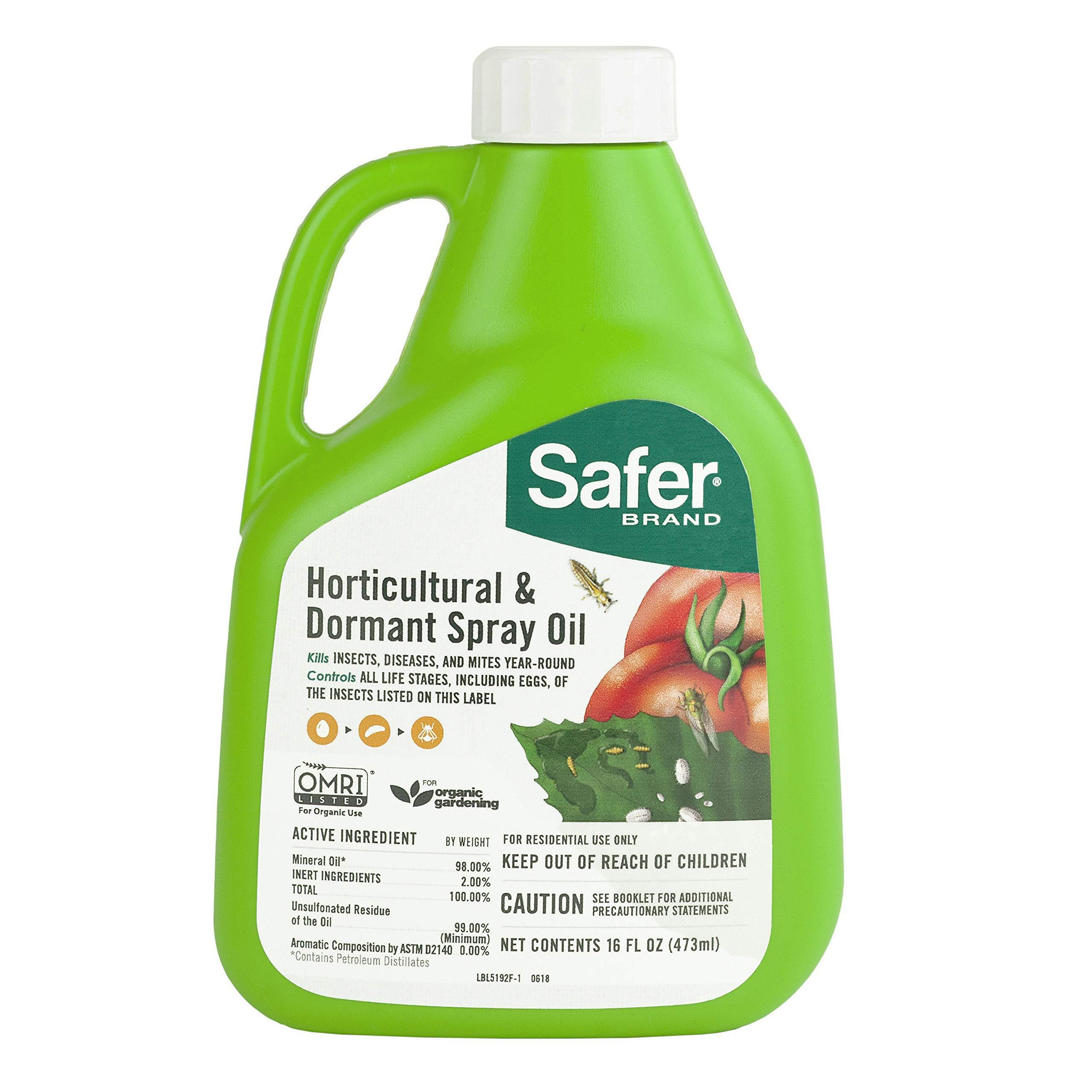 Safer 5192-6 Brand 16 oz Horticultural & Dormant Spray Oil Concentrate, Green by Safer Brand