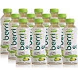 Berri Fit Lemon-Lime Organic Sports Drink Alternative with Natural Plant-Based Electrolytes, Low-Calorie Fitness Beverage, Non-GMO, Paleo Friendly, 16oz, Pack of 12