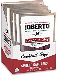 product image for Oh Boy! Oberto Classics Cocktail Pep Smoked Sausages, 3 Ounce (Pack of 8)