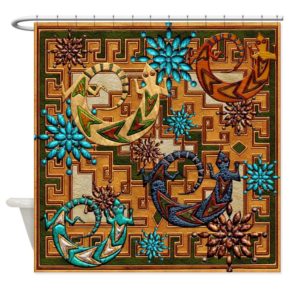 CafePress - Harvest Moons Desert Geckos - Decorative Fabric Shower Curtain (69''x70'')
