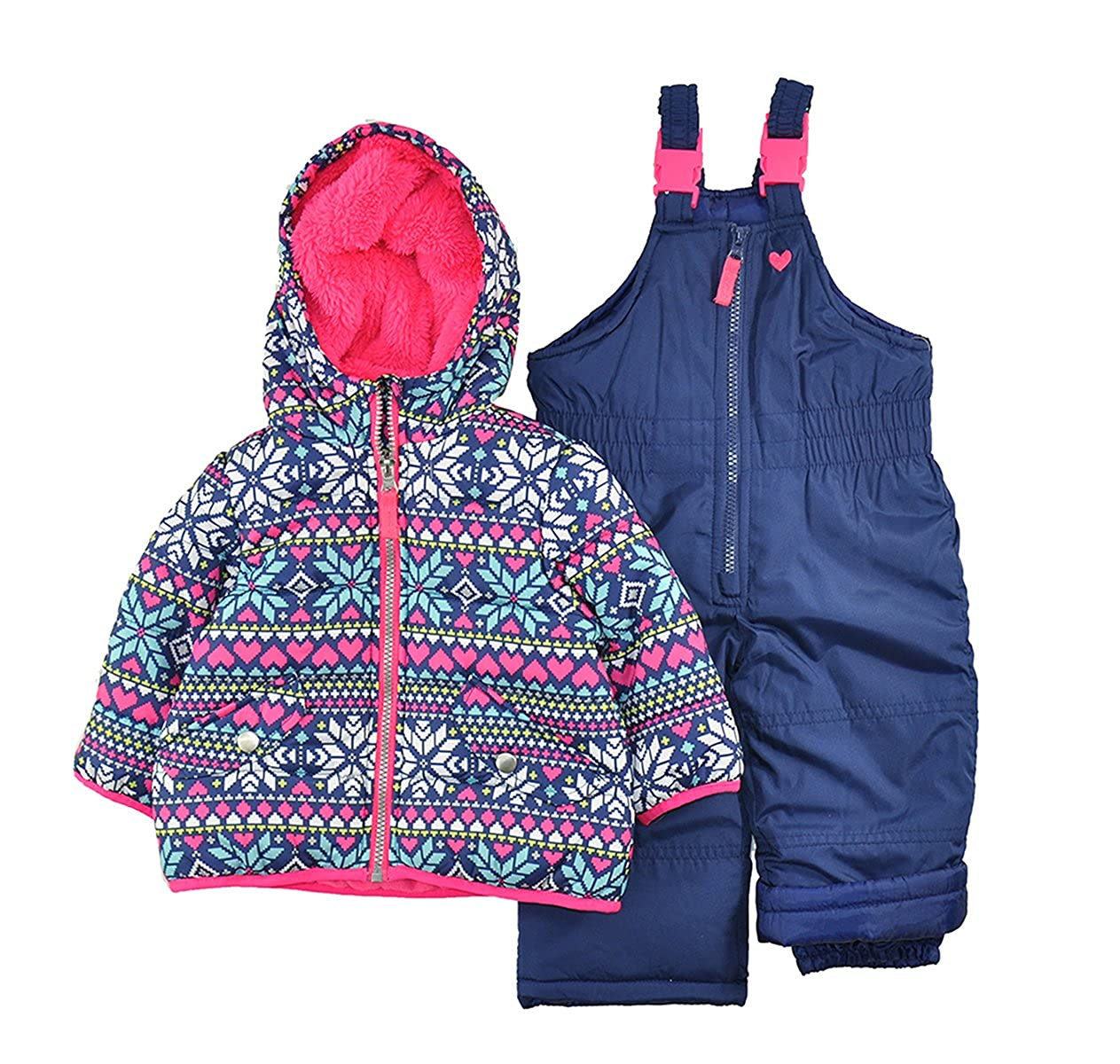 Carter's Girls' Infant 2 Pc Heavyweight Printed Snowsuit 12M