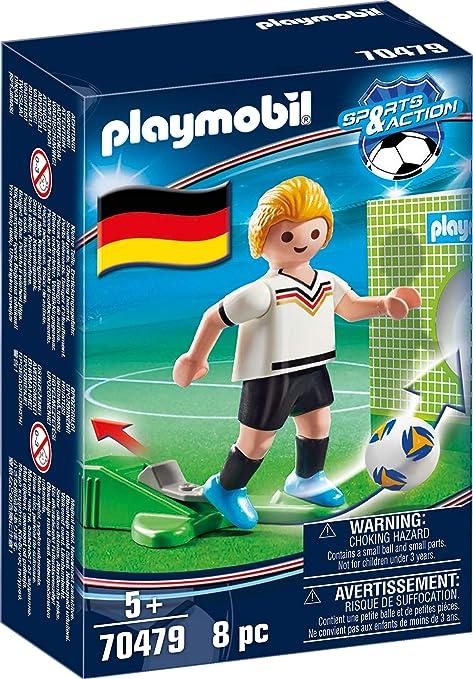 PLAYMOBIL-Jugador de fútbol, Alemania (70479), color germany ...