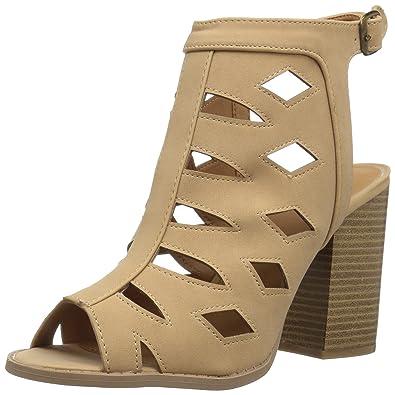 e5f8b97040ef Qupid Women s Wood Heel Sandal Heeled