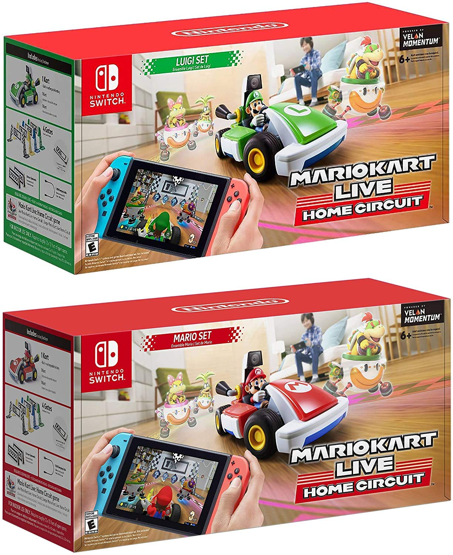 Nintendo Switch - Mario Kart Live: Home Circuit - Mario Set and Luigi Set Edition - Christmas Holiday Bundle for Switch